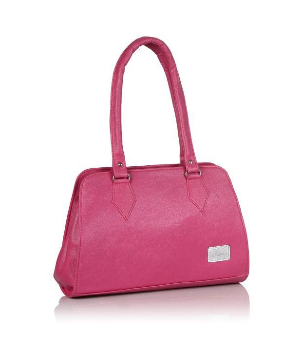 Jewel Fuel Pink P.u. Shoulder Bags