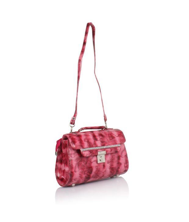 Jewel Fuel Pink P.u. Sling Bags