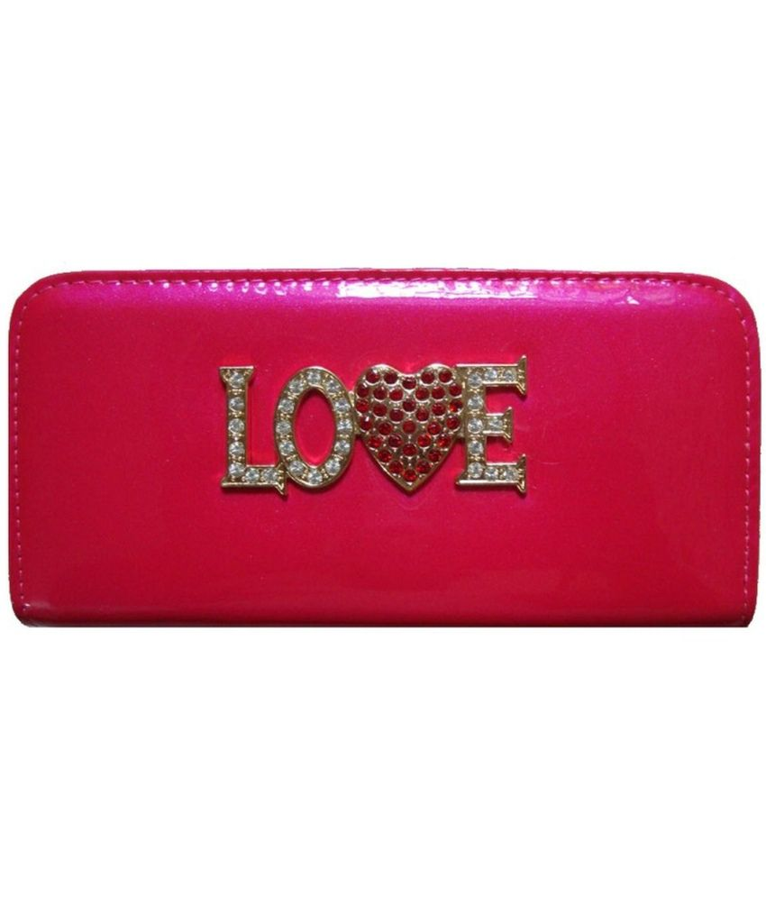 Skyraja Pink Non Leather Wallet Clutch