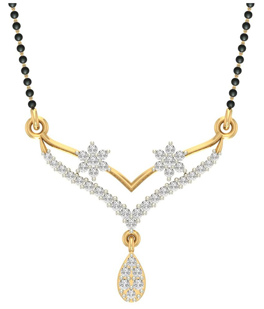 Jewels5 14kt Gold Diamond Mangalsutra