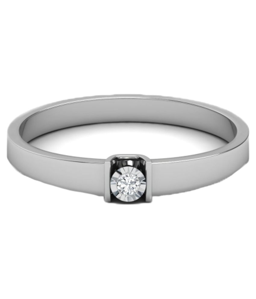 Kataria Jewellers Single Diamond Ladies Ring 92.5 Bis Hallmarked ...