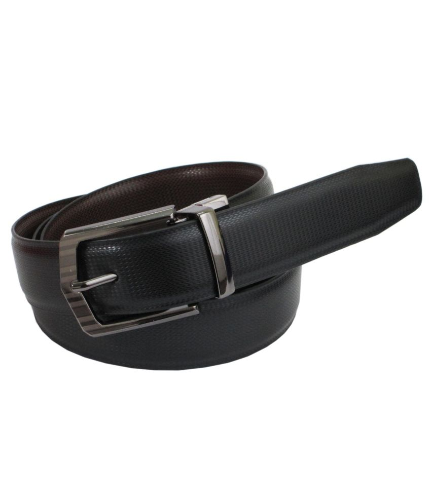 Abhinavs Black And Brown Leather Belt