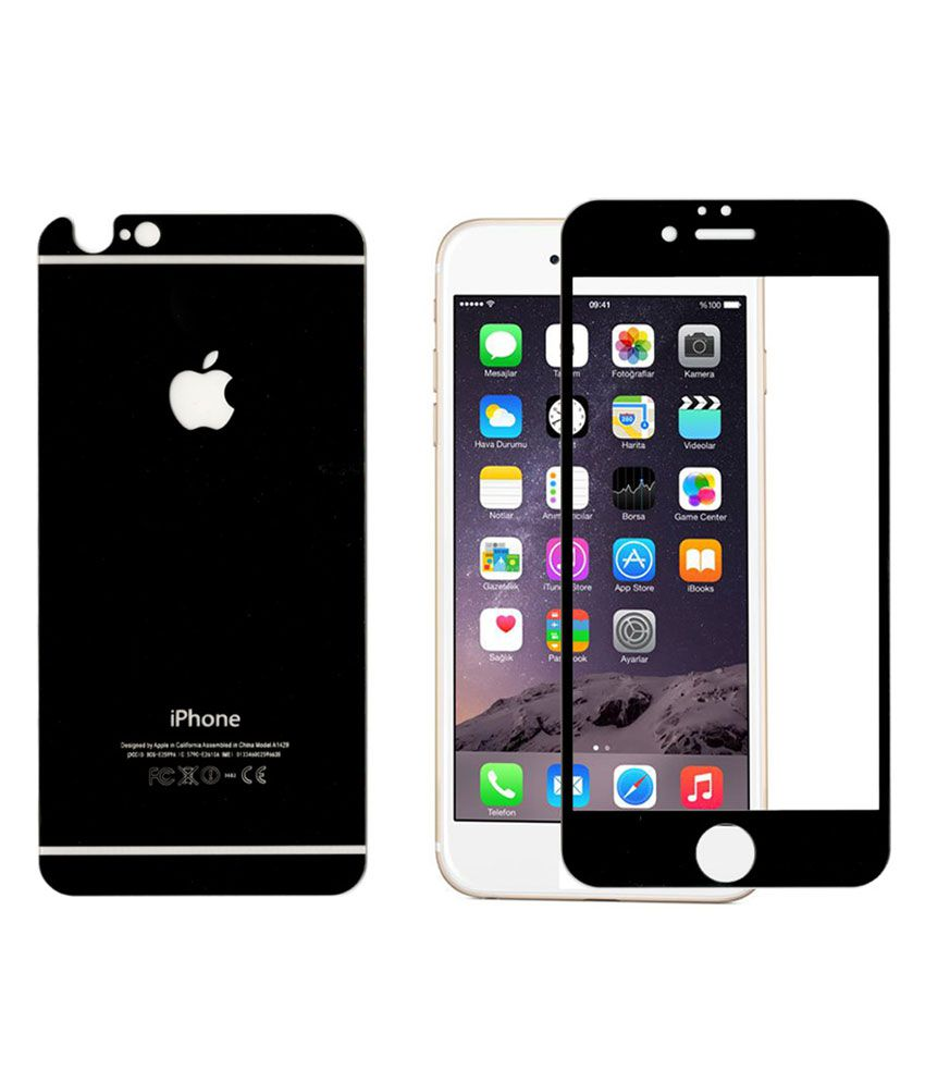 Apple iPhone 6 Plus- Black Tempered Glass Screen Guard by ClickAway - Mobile Screen Guards Online at Low Prices | Snapdeal India