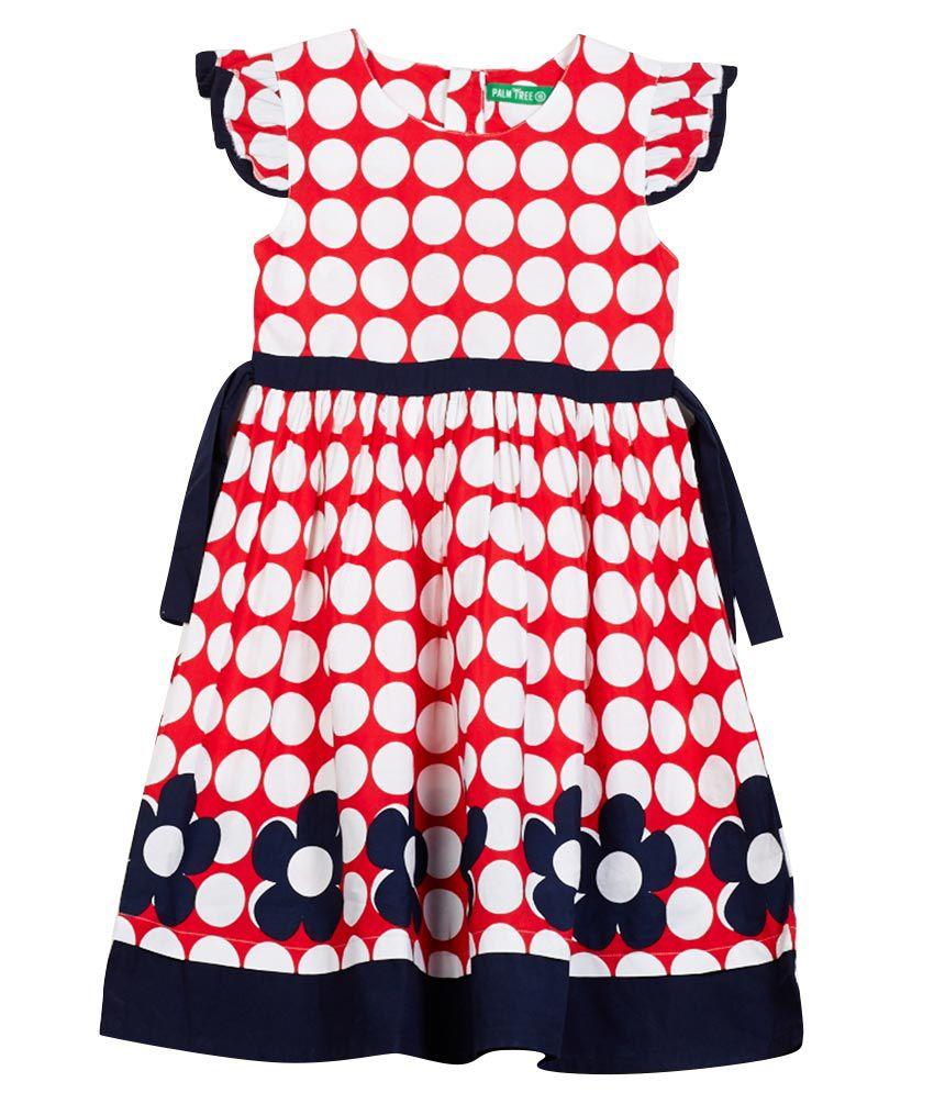130fc1fc4 Gini   Jony GIRLS Red Cotton Cap Sleeve Dress