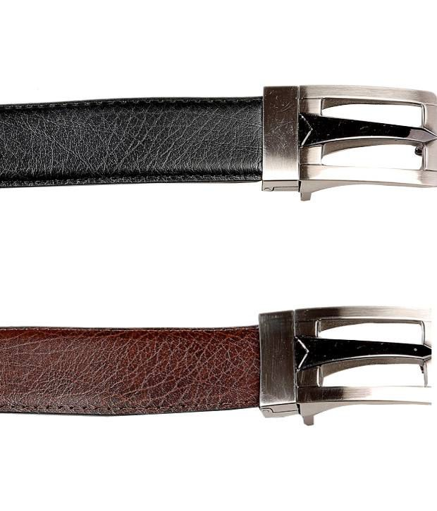 Tossido Black And Brown Leather Formal Belt