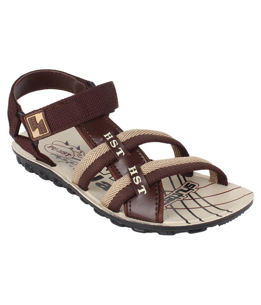 Bersache Brown Floater Sandals