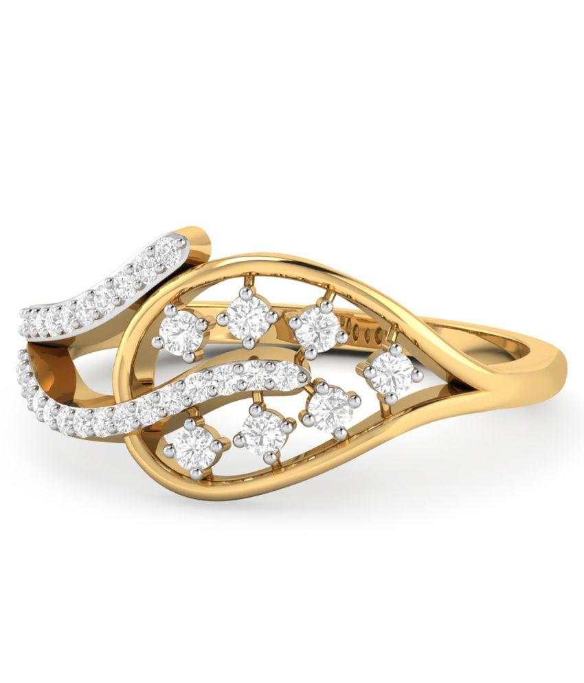WearYourShine PC Jeweller 18KT Gold The Miia Diamond Ring
