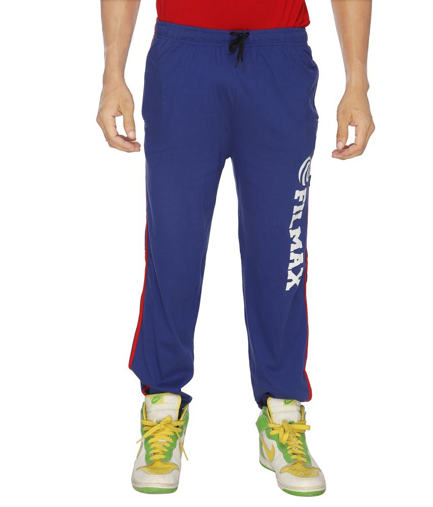 Filmax Blue Cotton Trackpants Single