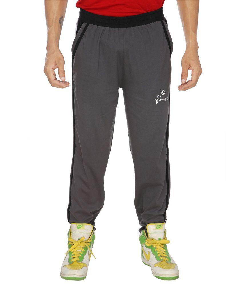 Filmax Gray Cotton Hosiery Track Pant