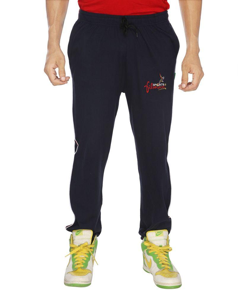 Filmax Navy Cotton Hosiery Track Pant