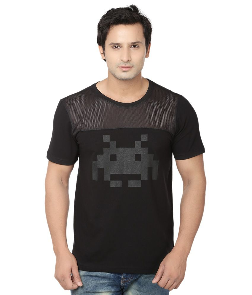 Fugazee Black Cotton Blend T Shirt