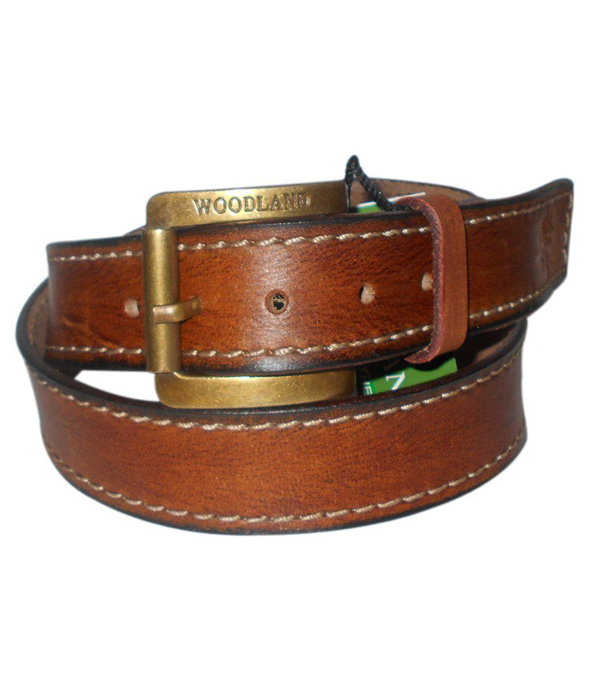 Navie Brown Leather Belt