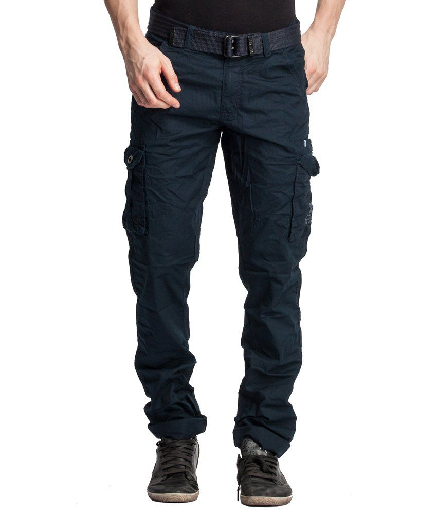 Beevee Navy Cotton Cargos
