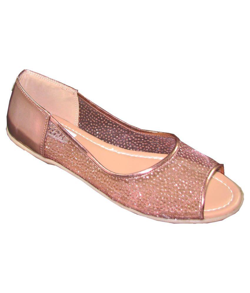 Faith antique peep toe ballerinas price in india buy faith antique peep toe ballerinas online - Antique peephole ...