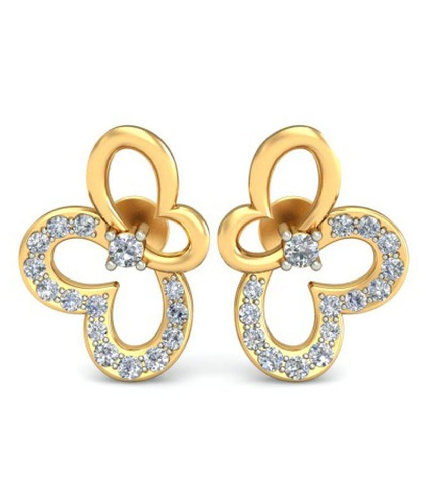 Kataria Jewellers The Melcia  Diamond Earrings with BIS Hallmarked Gold and IGI Certified Diamonds
