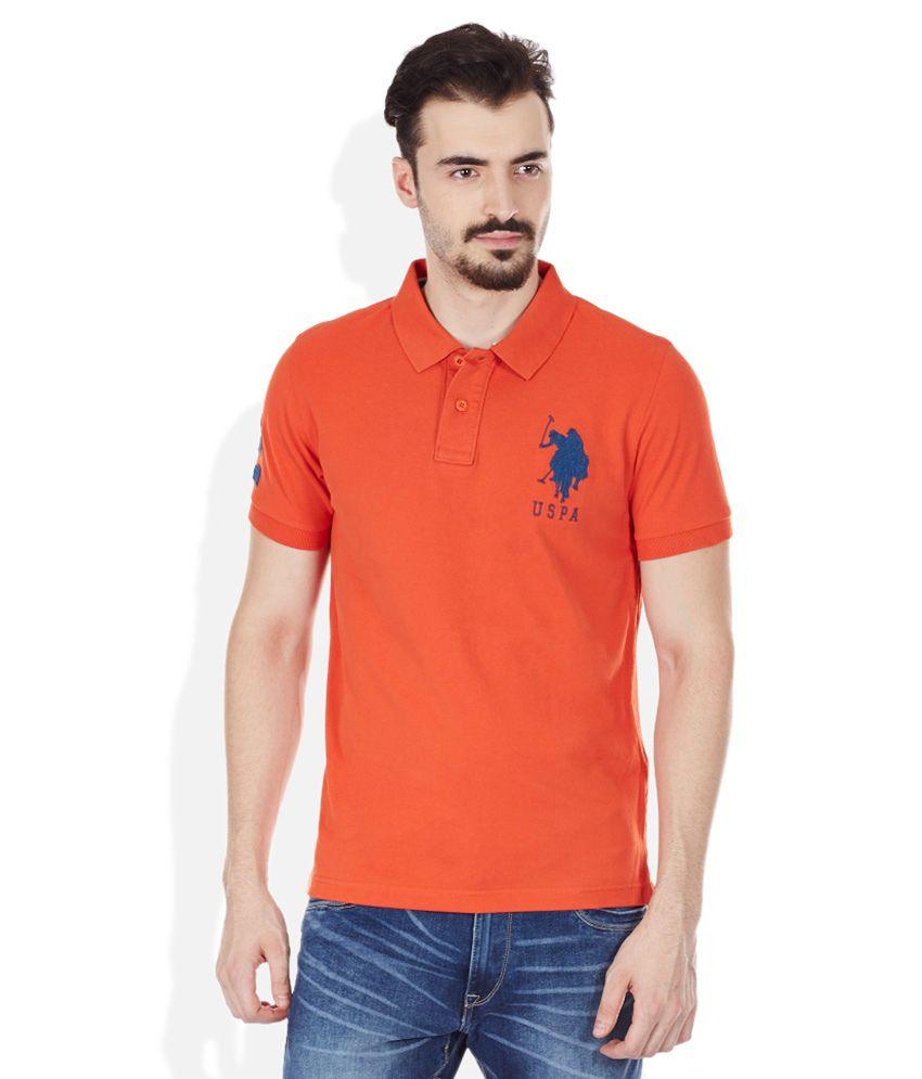 U s polo assn orange polo neck t shirt buy u s polo Us polo collar t shirts