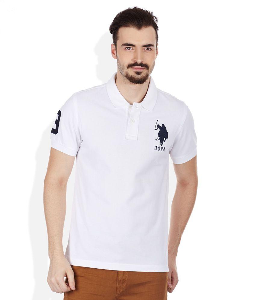 U s polo assn white polo neck t shirt buy u s polo Us polo collar t shirts