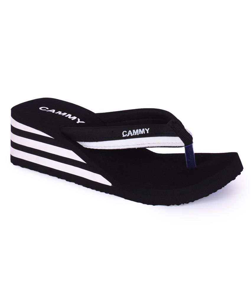034b069a5 Cammy Black Fabric Heel Flip Flop For Women Price in India- Buy Cammy Black  Fabric Heel Flip Flop For Women Online at Snapdeal