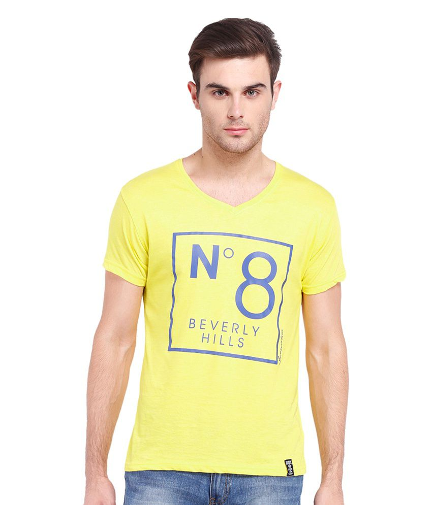 Locomotive Yellow Printed T-Shirt