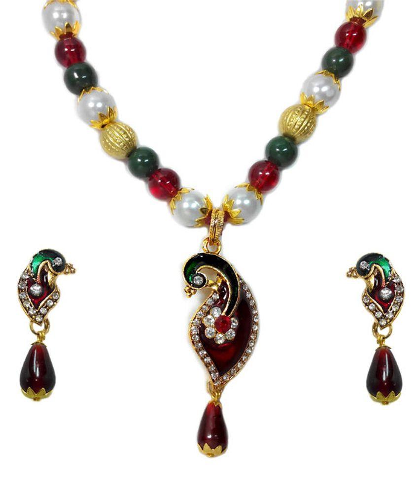 Luxor Multicolour Alloy Necklace Set