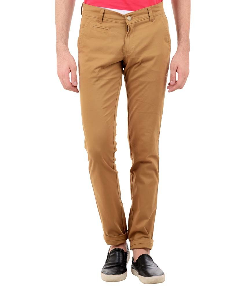 TNG New York Classic Khaki Slim Fit Chinos for Men