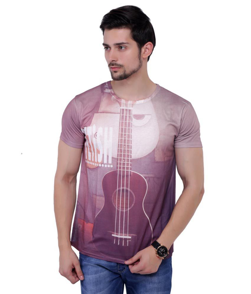 Global Republic Multicolor Cotton Blend Half Sleeve Round Neck Printed T Shirt