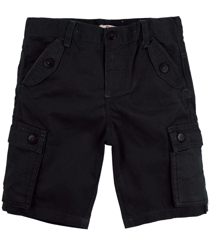 Oye Black Cotton Shorts