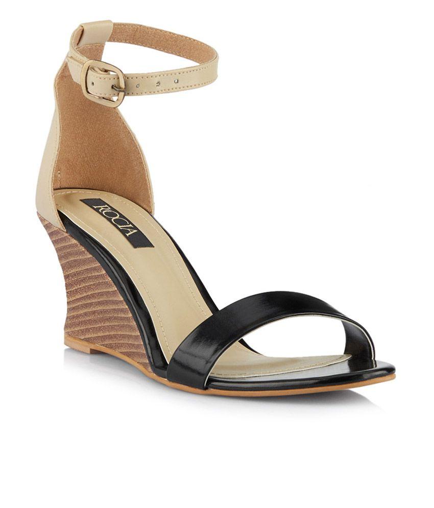 Buy Rocia Black Heeled Sandals