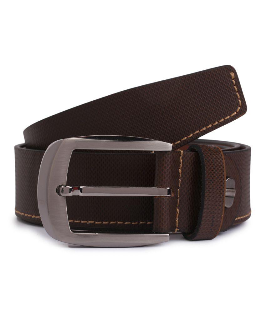 Alvaro Castagnino Brown Leather Formal Belt