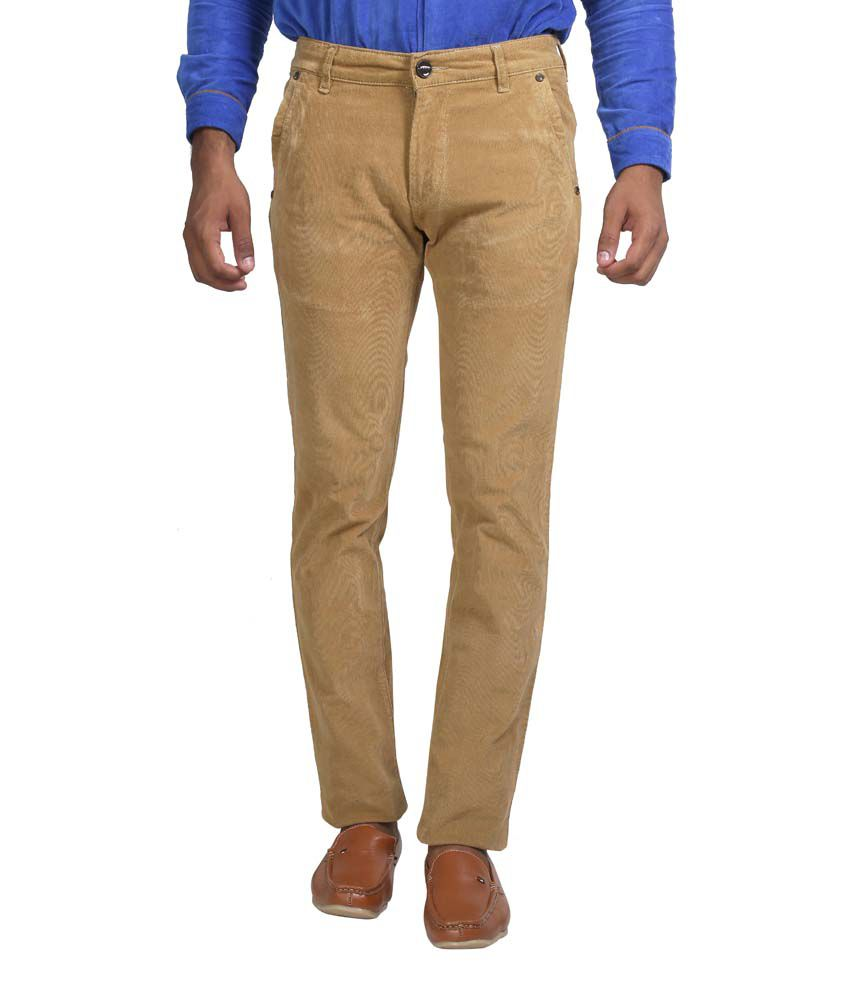 Apris Gold Cotton Casual Trouser For Men