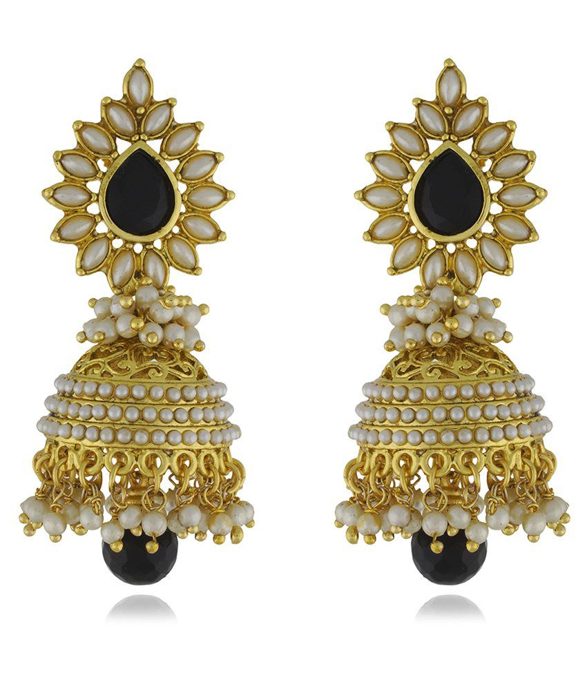 a02cd2e38bf1a Chaahat Fashion Jewellery New Fashion Pearl Copper Jhumki Earring ...