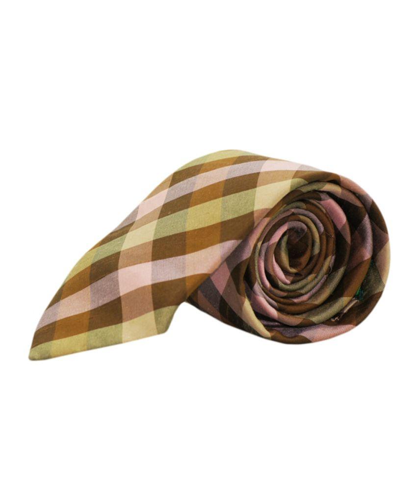 Pinellii Brown Silk Formal Narrow Ties