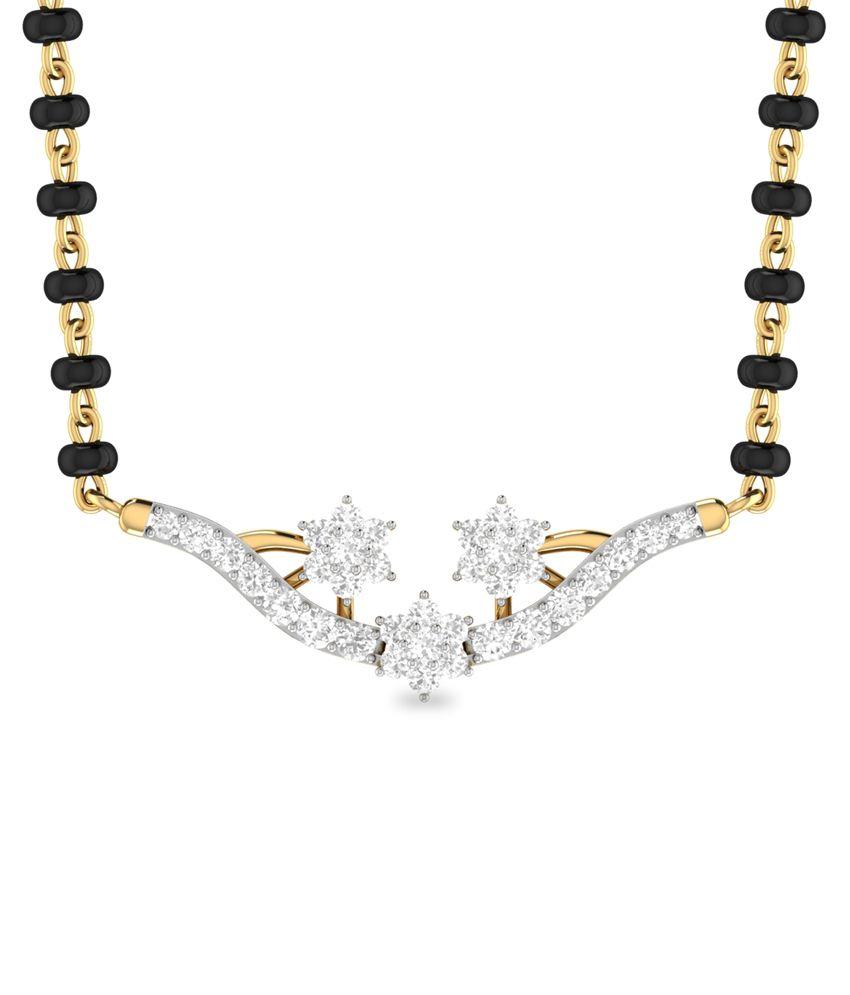 WearYourShine PC Jeweller 18KT Gold The Siran Diamond Mangalsutra