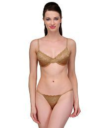 fc44b59b980 Gold Bra Panty Sets: Buy Gold Bra Panty Sets for Women Online at Low ...