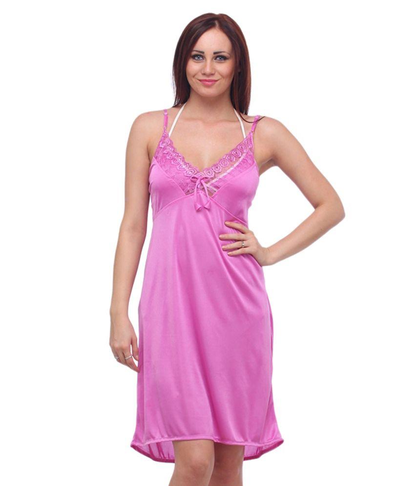 Ignis Pink Satin Nighty