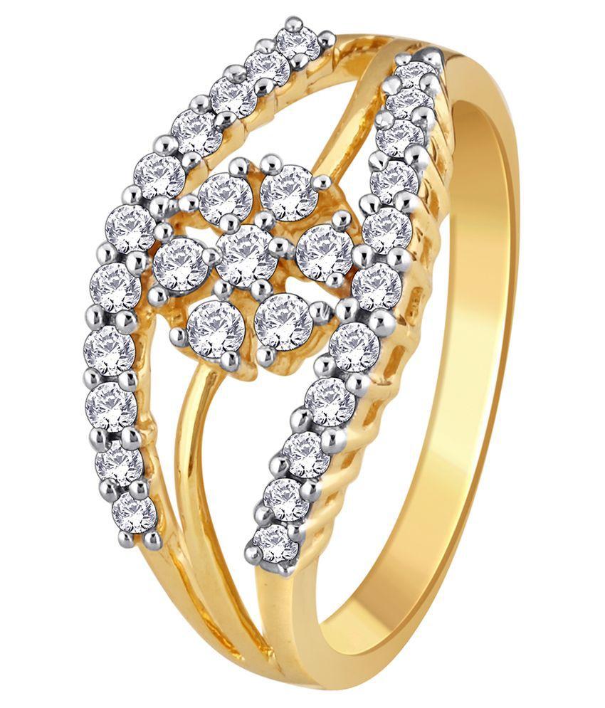 My Zevar Carnation 18kt Diamond Gold Ring