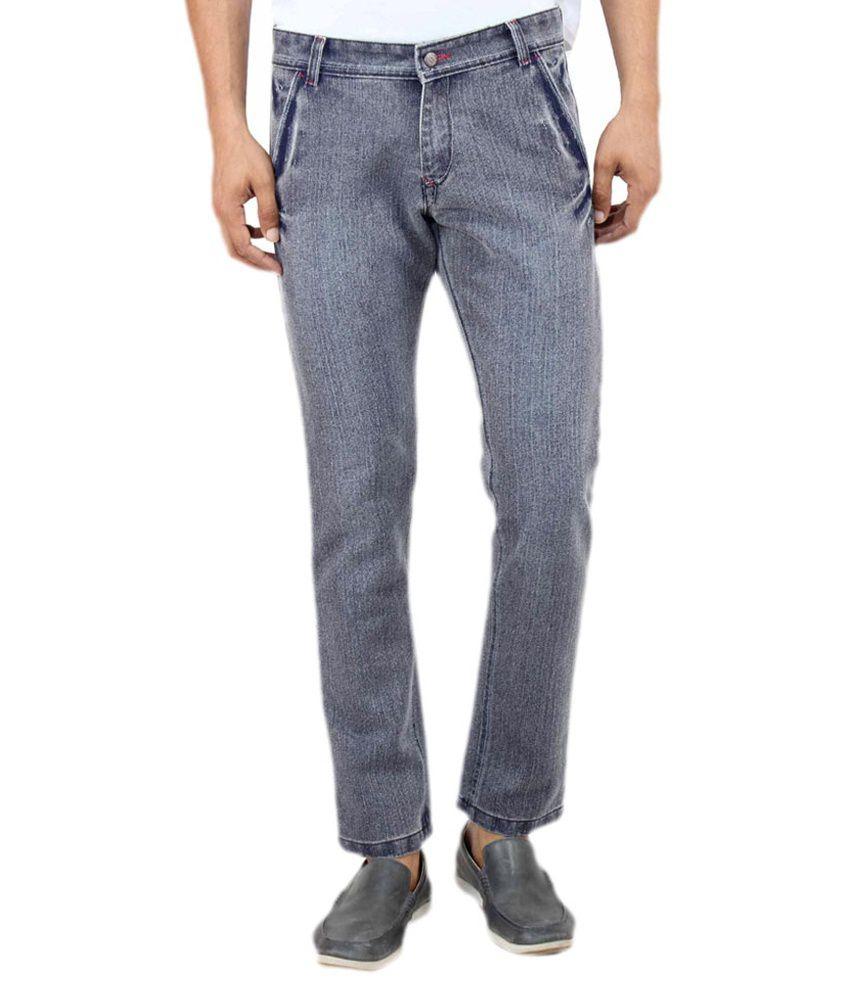 Uber Urban Blue Cotton Hector Regular Jeans