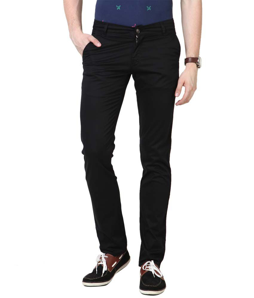 3concept Brown Cotton Slim Fit Trouser