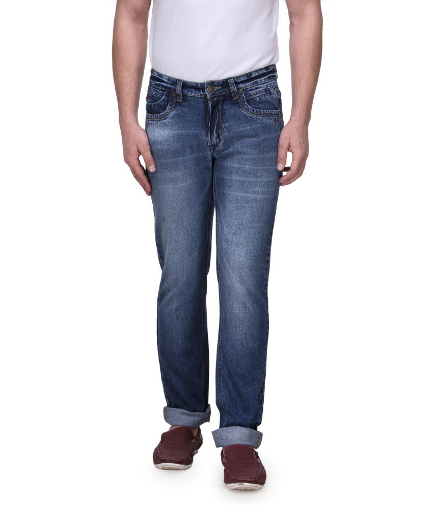 Canary London Blue Cotton Faded Jeans