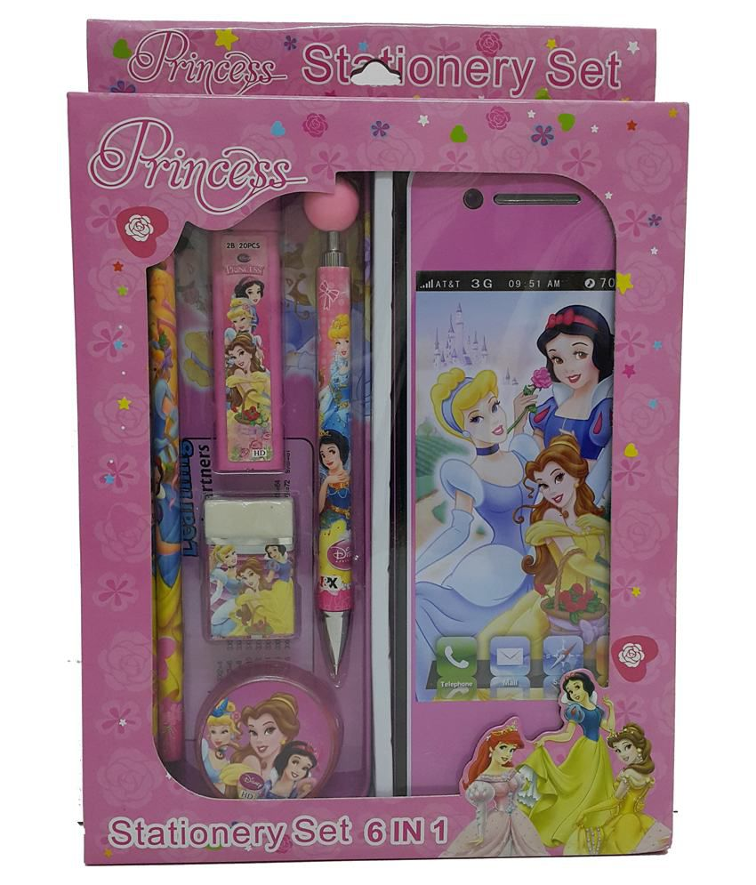 disney princess stationery set of 7 pieces buy online at best price rh snapdeal com