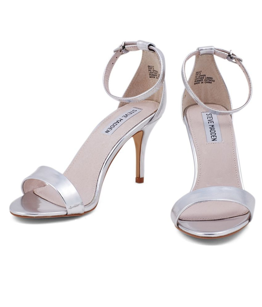 419e8aa3544 Steve Madden Silver Heeled Sandals Steve Madden Silver Heeled Sandals ...