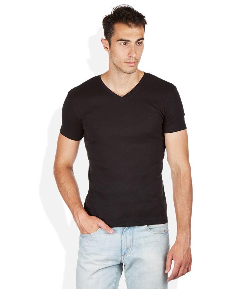 United Colors Of Benetton Black V-Neck T Shirt