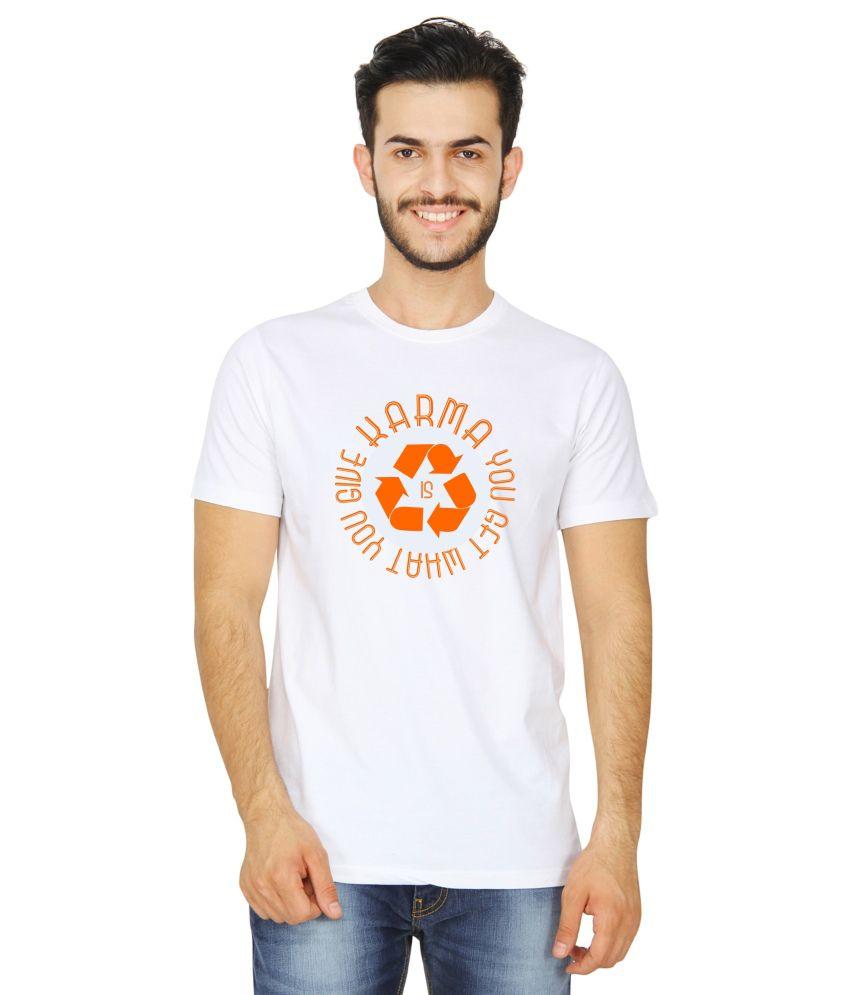 United Squares White Cotton T-shirt