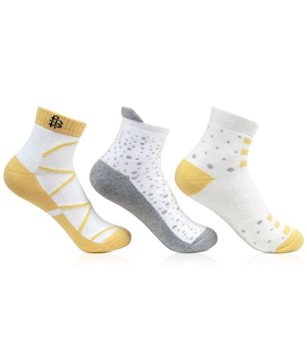 Bonjour Casual Ankle Length Socks Women Pack Of 3 Pairs
