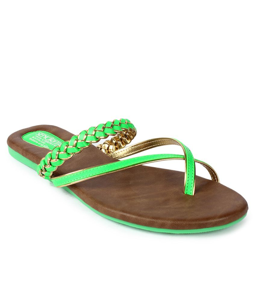 Senorita Green Slippers