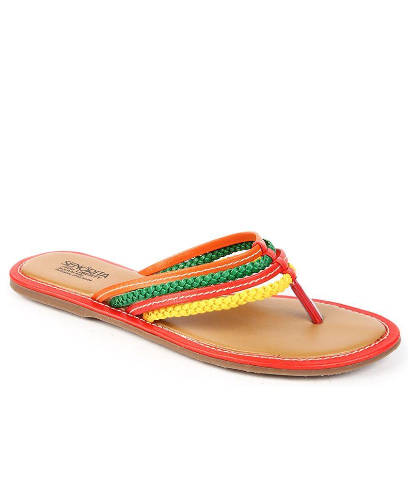 Senorita Red Slippers