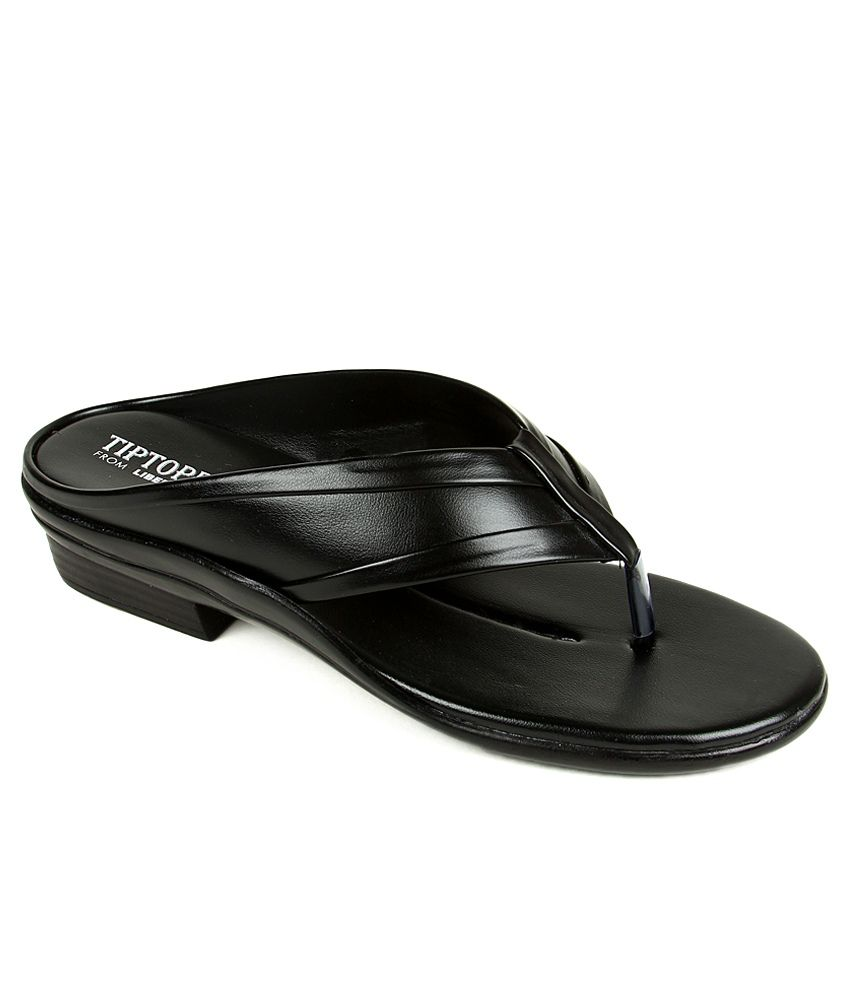 Tiptopp Black Slippers