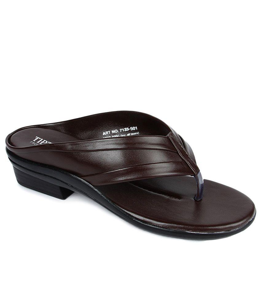 Tiptopp Brown Slippers