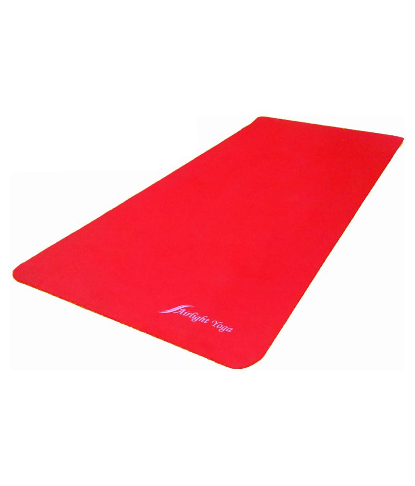 Airlight Yoga Mat 10mm Airlight Yoga Mat Rubberised Red 5