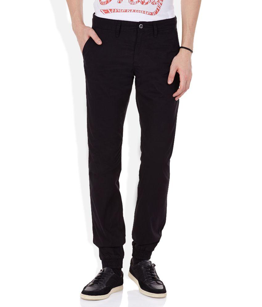 Celio Black Flat Trouser
